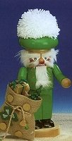 Irish Santa Chubby Nutcracker